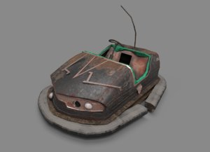 3D abandoned pripyat bumper car-dodgem