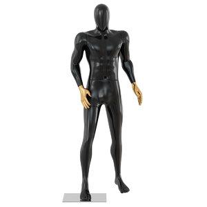 black male mannequin golden model