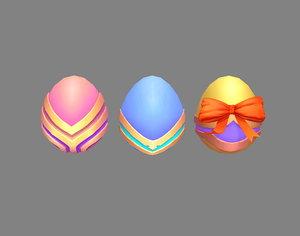 coloredeggs luckydraw 3D model