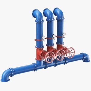 real industrial pipe 3D model