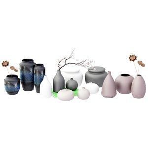 style ceramic vase model