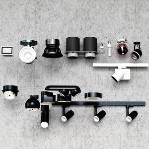 downlight spotlight camera 3D