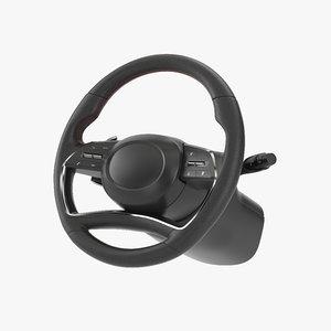 3D wheel steering model