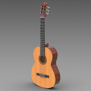 3d classical guitar yamaha c40 model