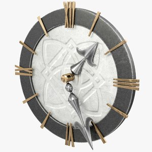 3D model stylized clock