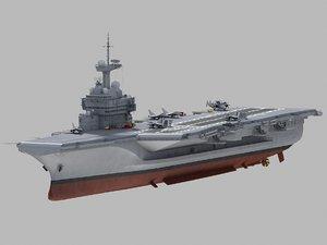 charles gaulle carrier 3D model