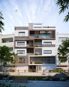 architecture apartments design 3D model