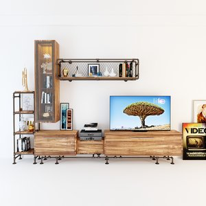 3D tv s cabinet model