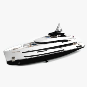 3D akira luxury yacht dynamic