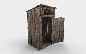 rural outdoor toilet pbr model