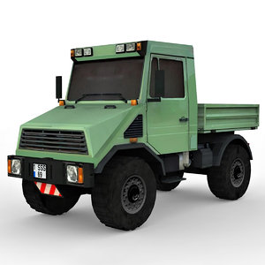 industrial utility truck 4x4 3D