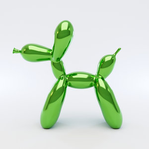 dog balloon 3D model
