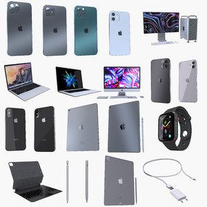 3D apple electronics iphone mac model