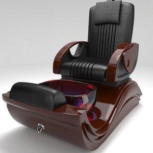 3D electric pedicure chair model