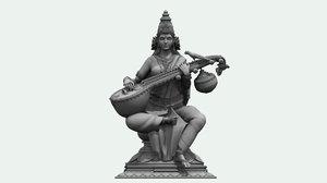 saraswati statue 3D model