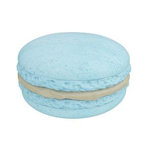 3D macaroon blue caramel