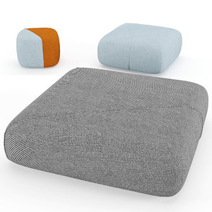 3D furoshiki pouf model