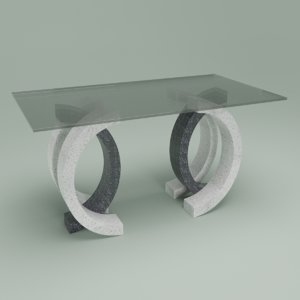 3D olympia dining table model