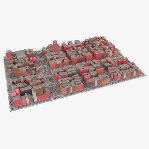 road scene new york 3D model