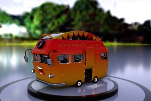 lowpoly coachbus 3D model