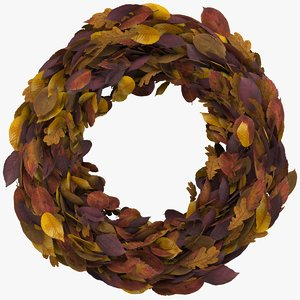 3d autumn wreath