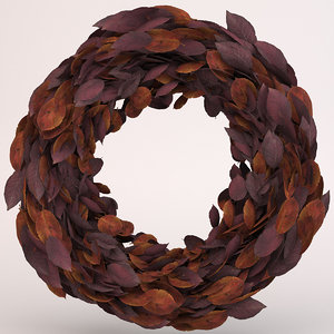 3D autumn wreath red