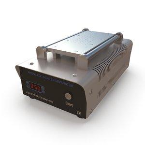phone lcd separator machine 3D