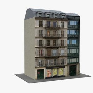 typical paris building 02 3D