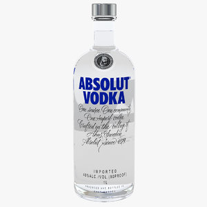 absolut vodka original 1l 3D