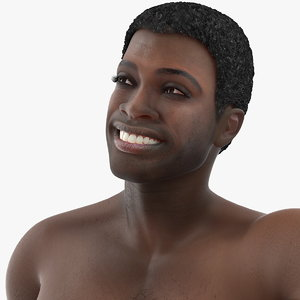 3D model african american man rigged