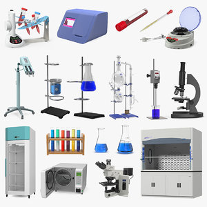 3D model lab equipment 10