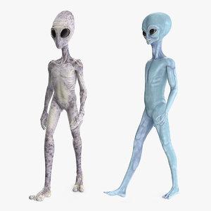 aliens space 3D