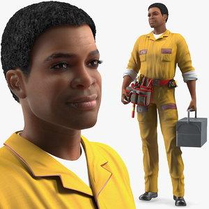 3D light skin black locksmith