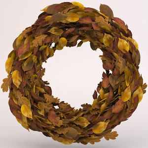autumn wreath 3D model
