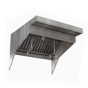 commercial kitchen exhaust hood model