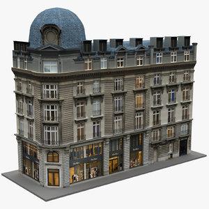 typical paris building 03 3D