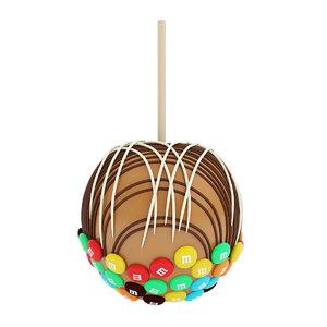 caramel chocolate mms 3D model