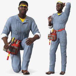 dark skin black man 3D model