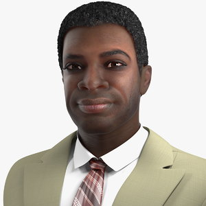dark skin black man 3D
