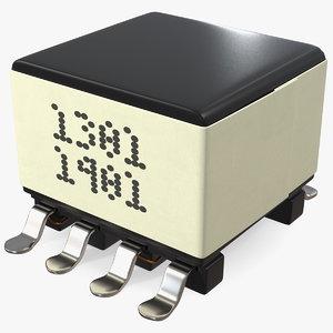 3D gate drive transformer soldered model