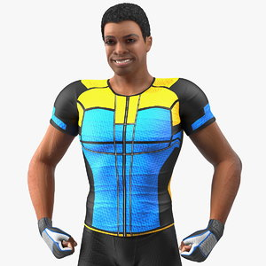 light skin black sportsmen 3D model