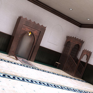 3D mosque interior 1