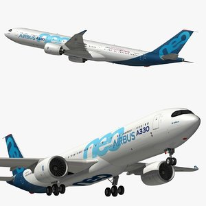 airbus a330neo color house 3D model