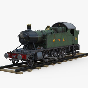 great steam locomotive 3D model