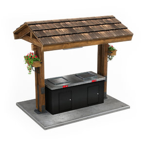 3D park electric barbecue
