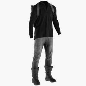 3D realistic men s pants