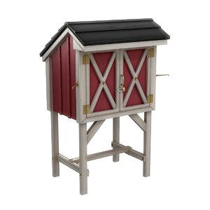 3D model farm produce stall
