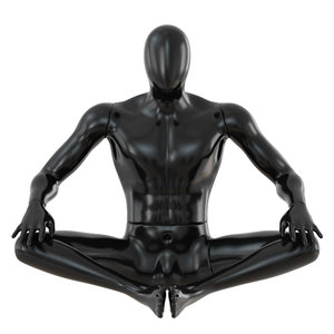 black abstract mannequin sitting model