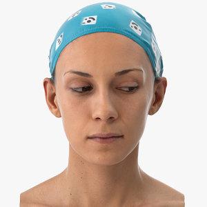 athena human head eyes 3D