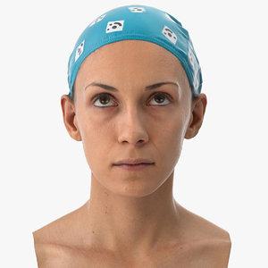 athena human head eyes 3D model